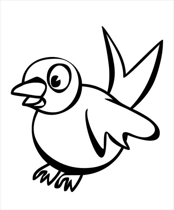 coloring pages of cartoon goose - photo#20