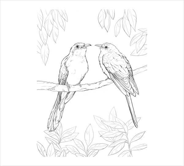 Bird Printable Coloring Page