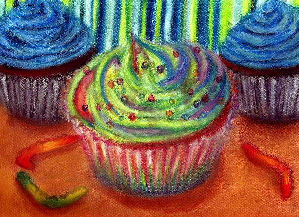 Birthday Cupcake Drawing