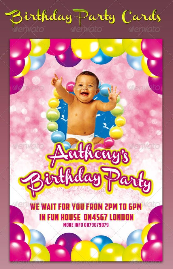 Birthday Party Card Idea