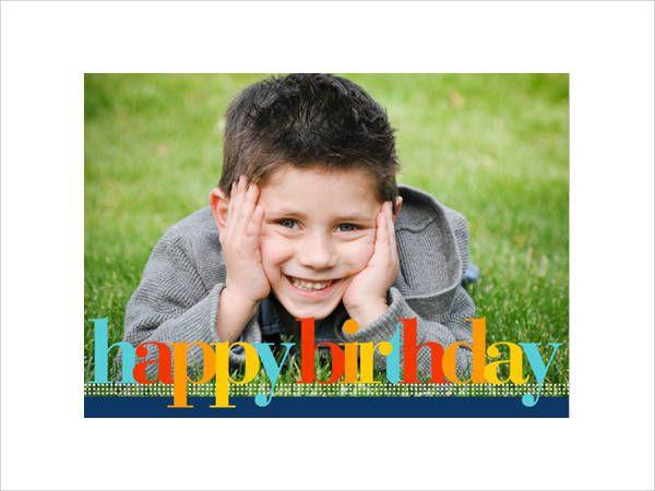 Birthday Photo Card Idea