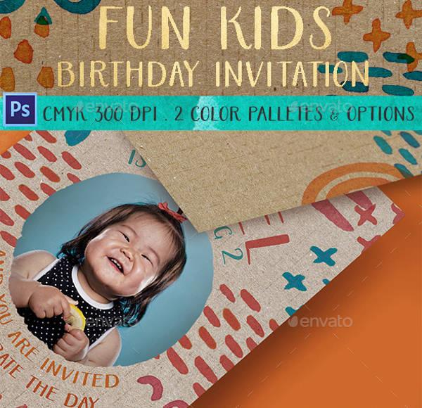 Birthday Photo Invitation Design