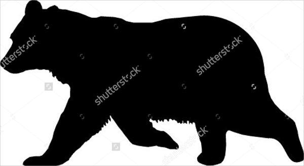 Black Bear Silhouette