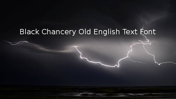 black chancery old english text font