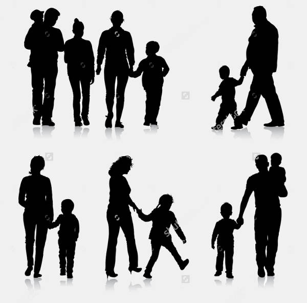 Black Family Silhouettes