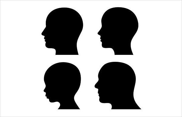 Black Head Silhouette
