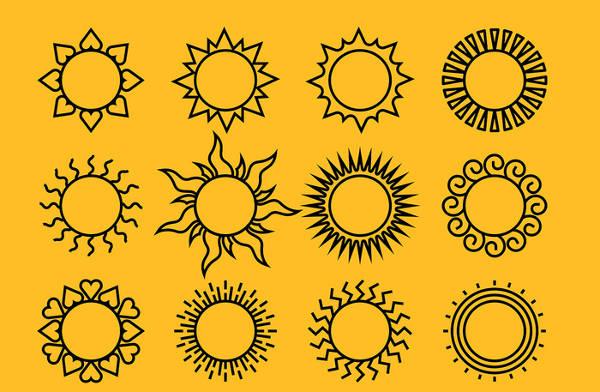 Black Sun Vector