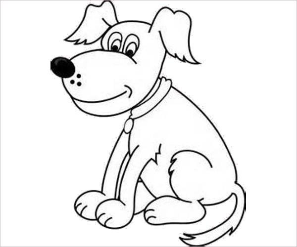 Black & White Dog Clipart