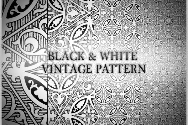 Black & White Vintage Pattern