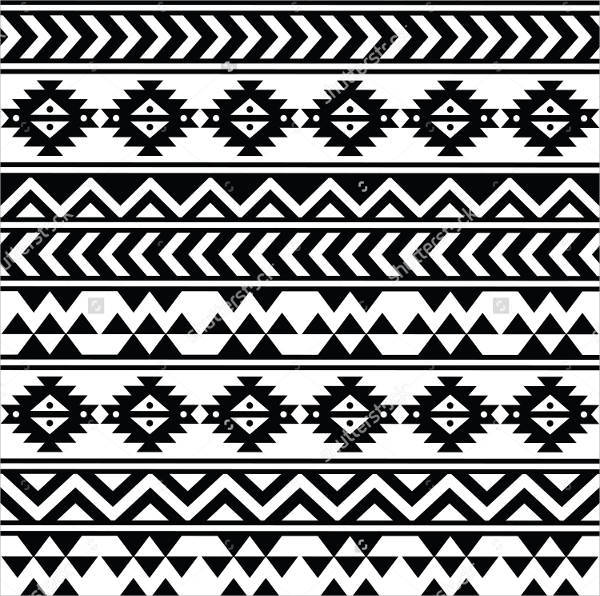 Black and White Aztec Design