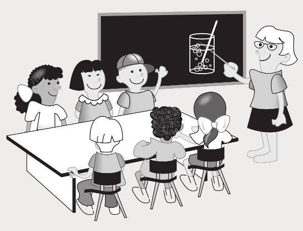 Black and White Classroom Clipart