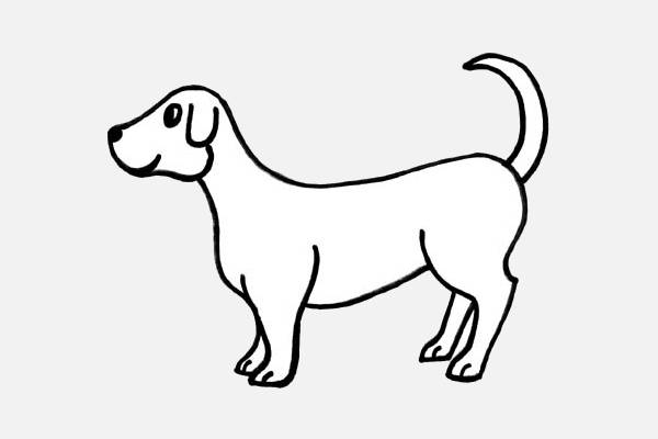 Black and White Dog Clipart