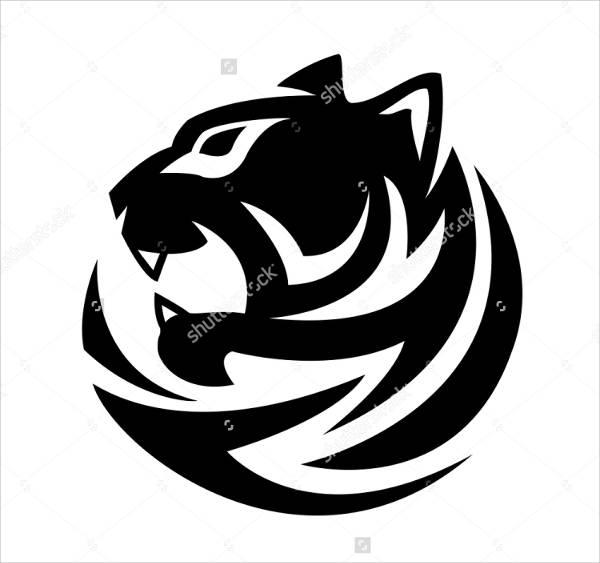 Black and White Tiger Logo