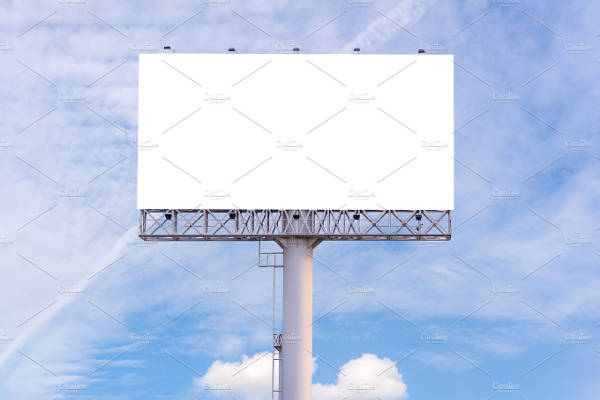 Blank Billboard Advertising
