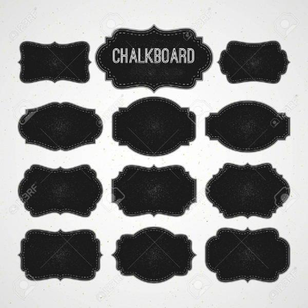 blank chalkboard label