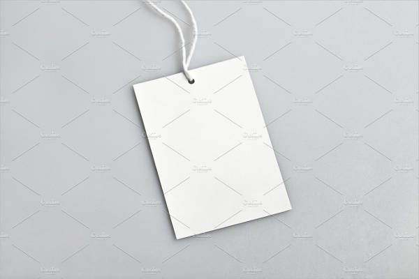 Blank Clothing Tag Design