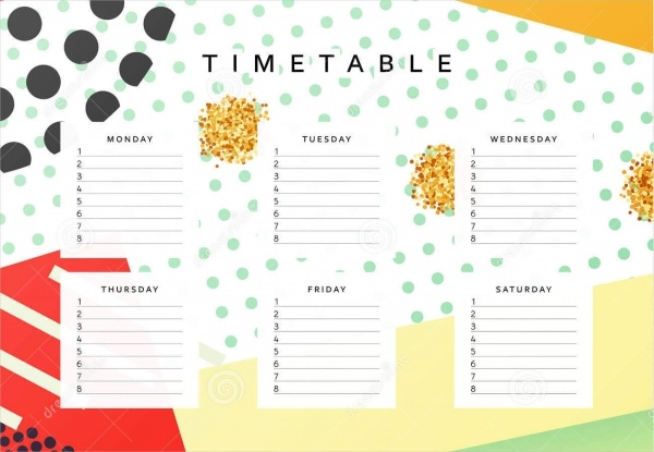 Blank School Calendar Layout