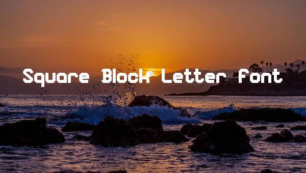 9 Block Letter Fonts