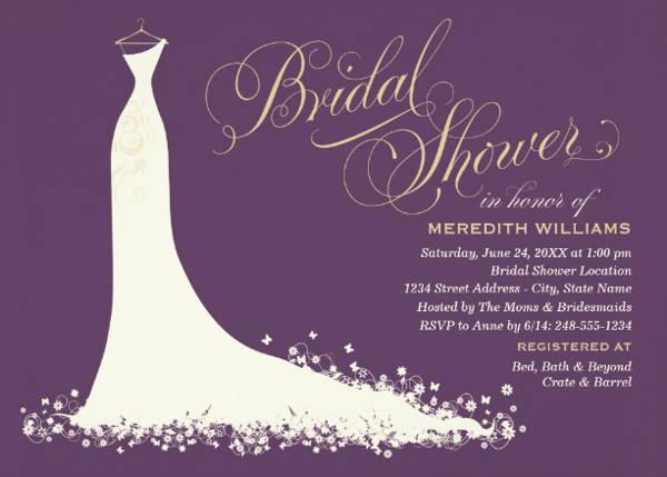 Bridal Shower Elegant Invitation