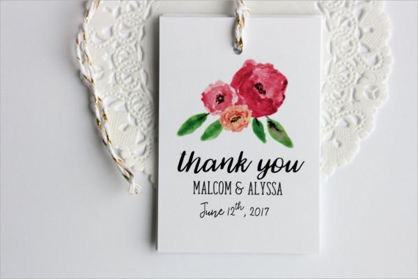 Bridal Shower Thank You Tag