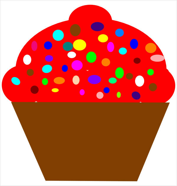 Brown Cupcake Clipart
