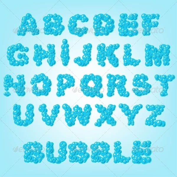 Bubble Abstract Alphabet
