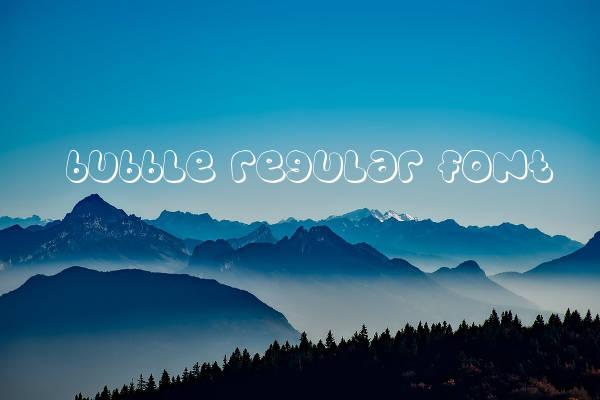 Bubble Letters Regular Font