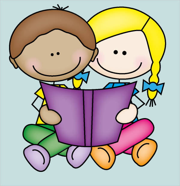 Buddy Reading Clipart