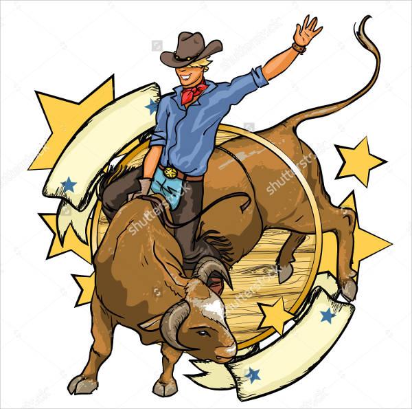 Bull Riding Logo