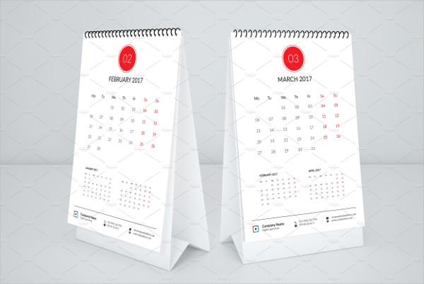 business desktop calendar