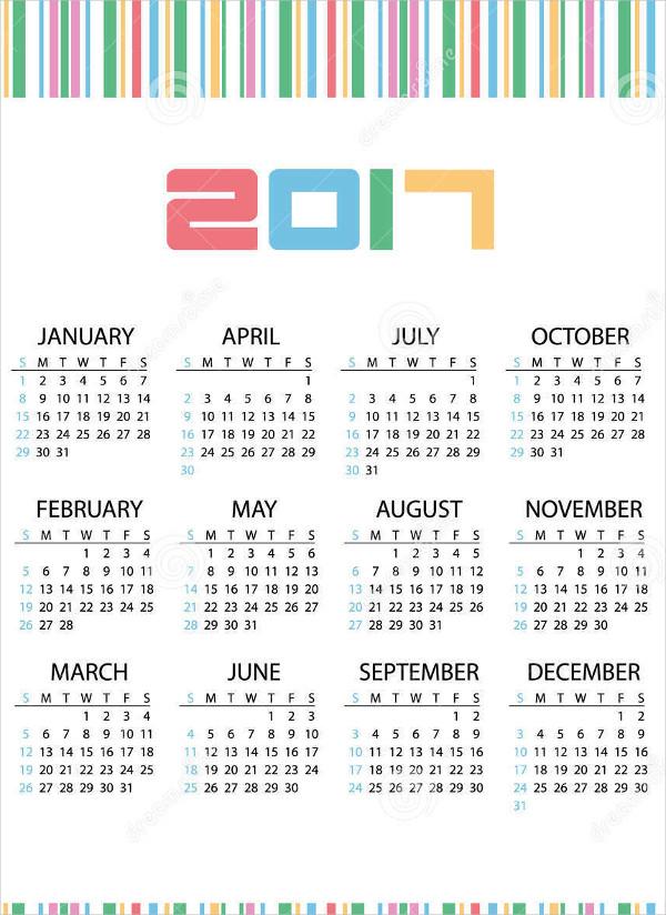 business wall calendar