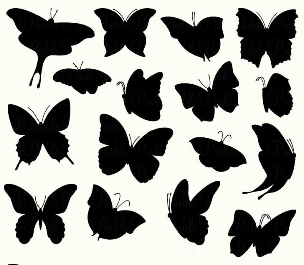 Butterfly Clipart Silhouette