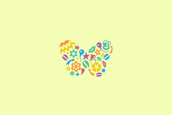 Butterfly Floral Mark Logo
