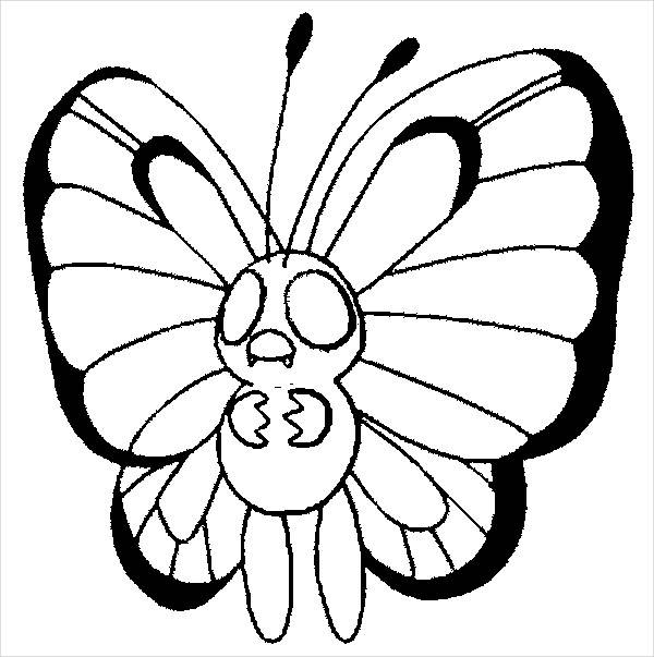 Butterfly Pokemon Coloring Page