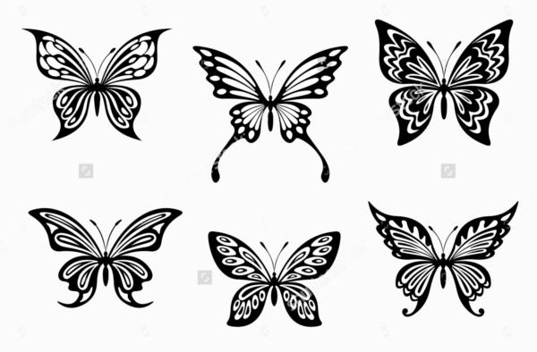 Butterfly Tattoo Silhouette