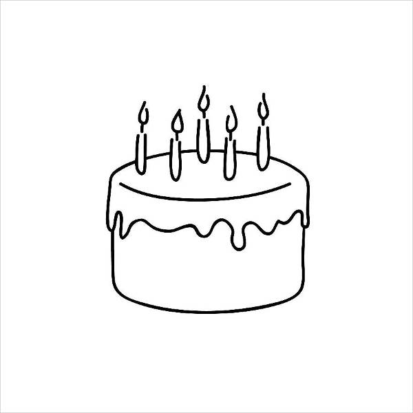 cake black and white clipart