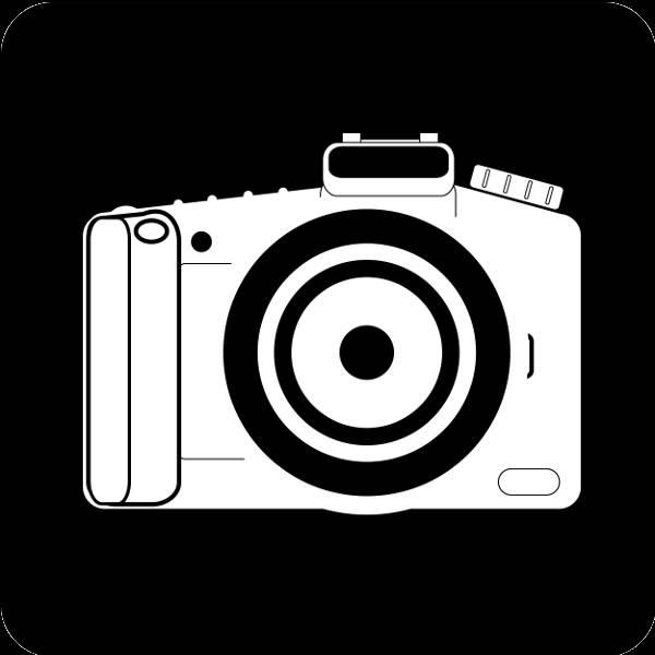 Camera Black and White Clip Art
