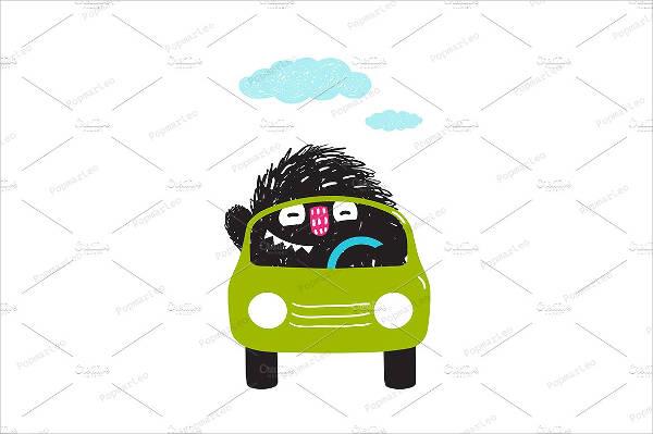 Car Cartoon Vector