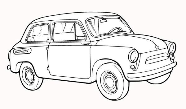 Car Outline Clipart
