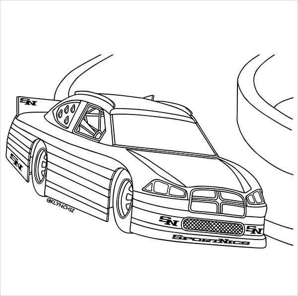 Car Printable Coloring Page