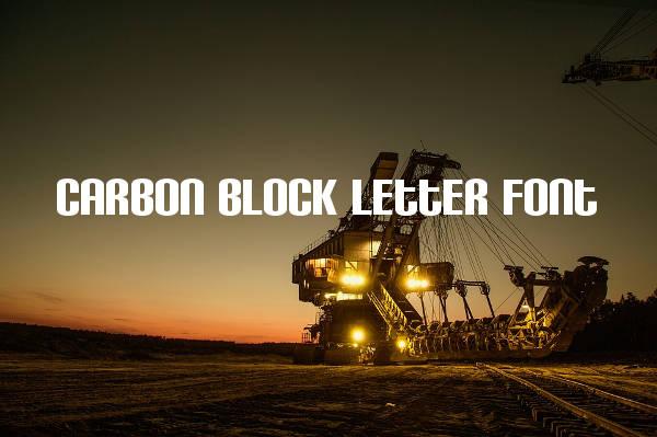 Carbon Block Letter Font