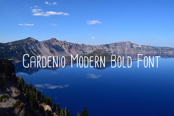 Cardenio Modern Bold Font