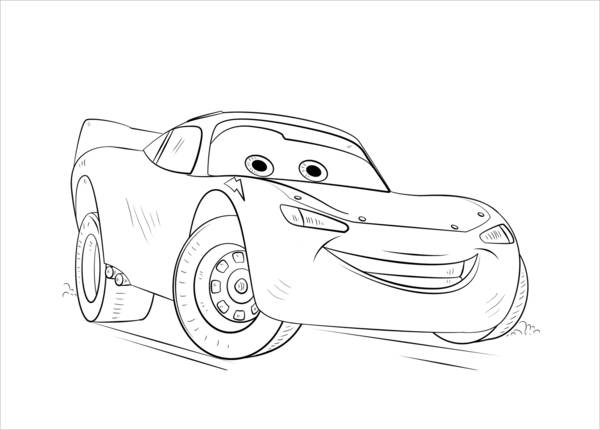 Cars Coloring Page for Boys