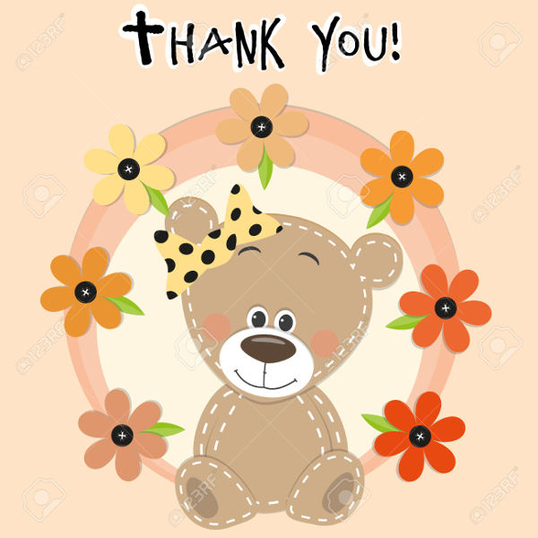 Cartoon Baby Thank You Card