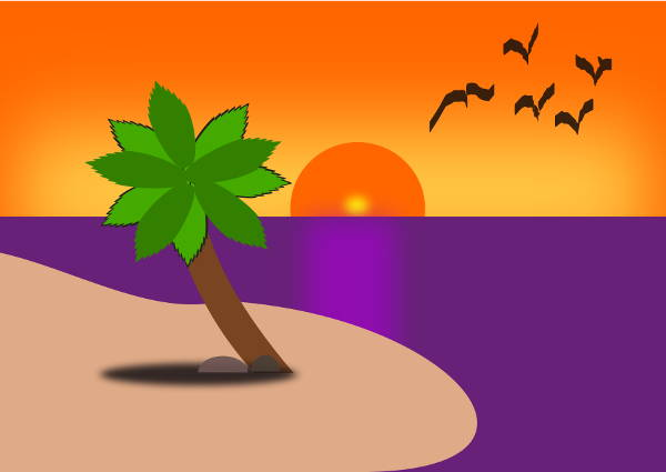 Cartoon Beach Clipart