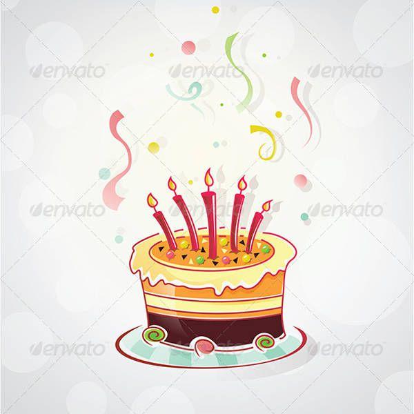 cartoon birthday cake design