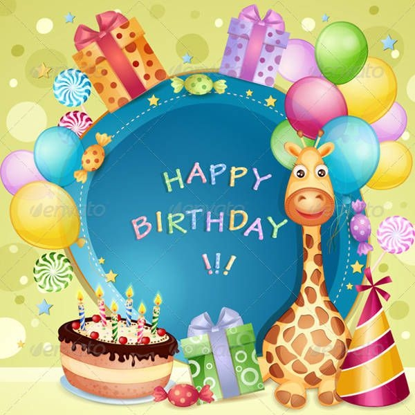 9 personalized birthday cards editable psd ai vector eps format cartoon birthday card m4hsunfo