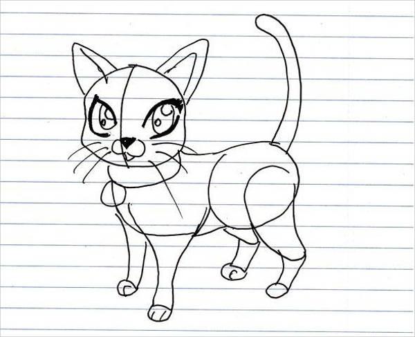 Cartoon Cat Drawing
