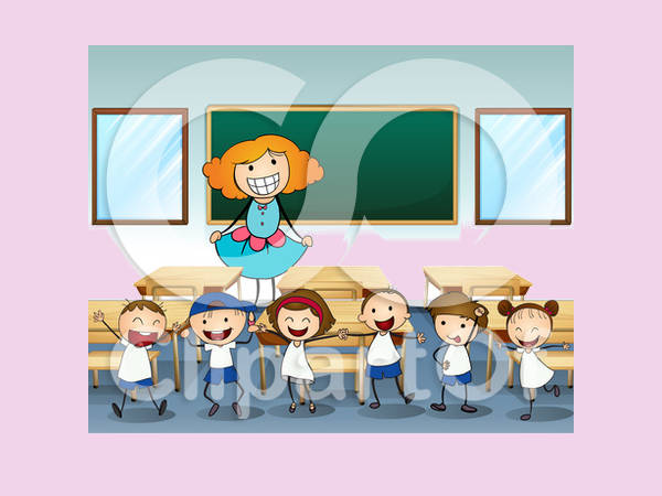 Cartoon Classroom Clipart