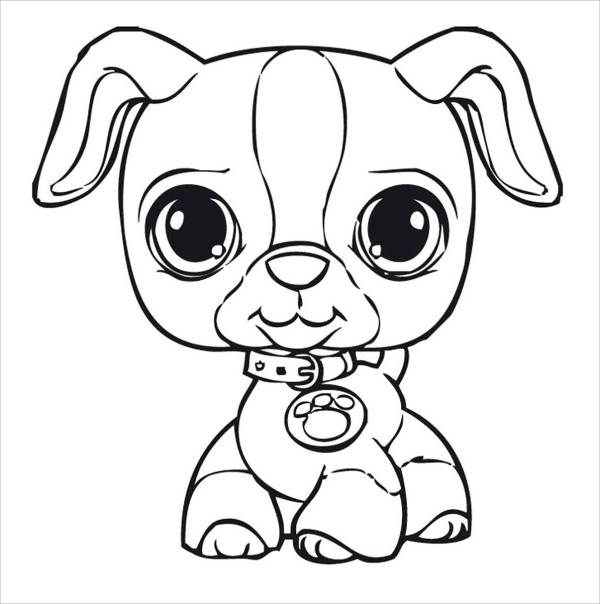 9+ Dog Coloring Pages - JPG, Ai Illustrator Download